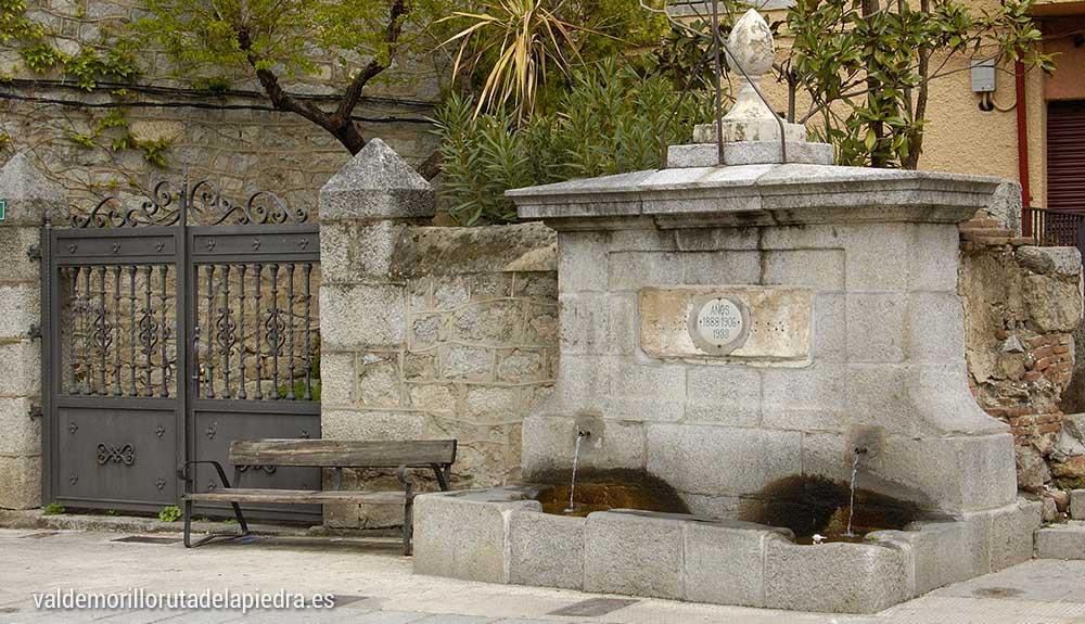 Fuente del caño Valdemorillo Ruta de la piedra